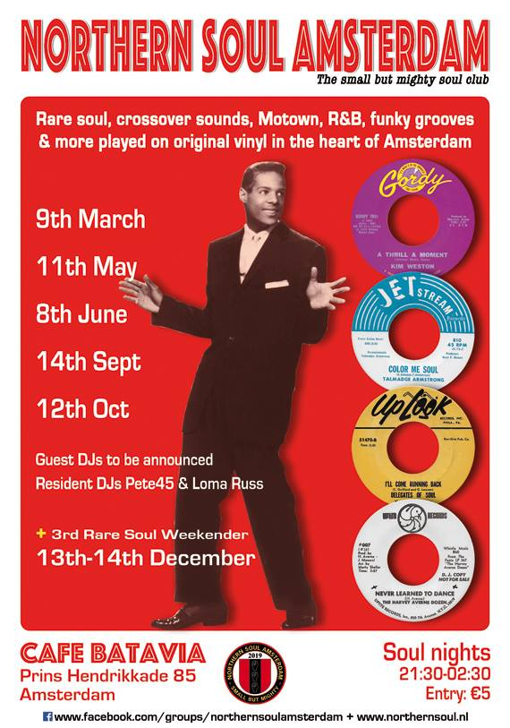 Northern Soul Amsterdam Weekender @ Cafe Batavia