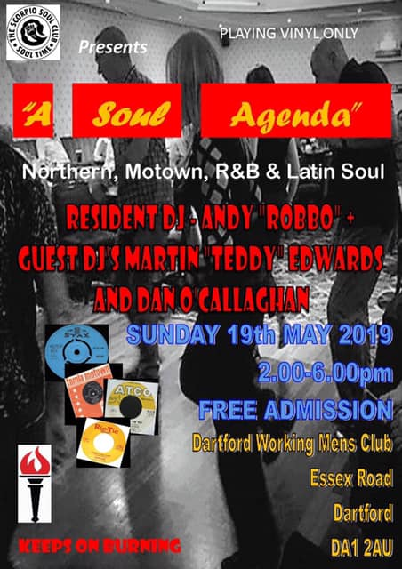 Soul Agenda Dartford @ Dartford Working Mens Club