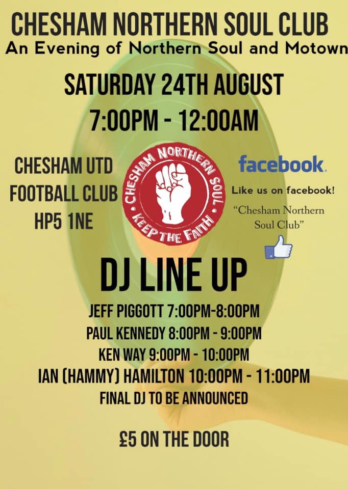 Chesham Northern Soul Club @ Chesham United Football Club